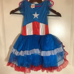 Captain America Marvel TUTU One Size Dress Only